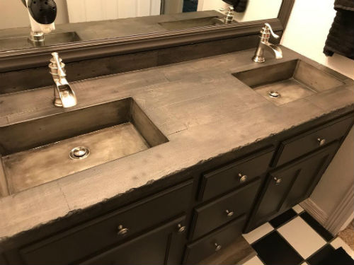Concrete Bathroom Sink Mold